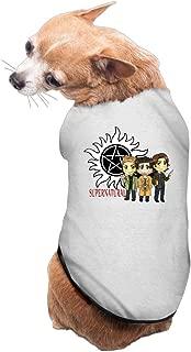 MEGGE Supernatural Logo Fashion Pet Doggie Clothing Gray