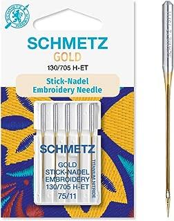 10 agujas Schmetz con una dureza de 70 H