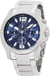 Joseph Abboud Navy Dial Stainless Steel Men's Watch JA3212S648-004, Silver/Navy