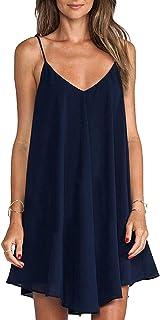 Vestito da Donna Estate Casual Senza Maniche Maglietta Abito Camicetta Abiti da Spiaggia