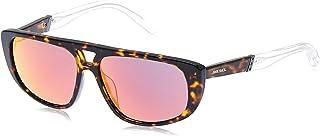 نظارات شمسية للجنسين من ديزل DL030652U54 - لون هافانا داكن/خمري عاكس - بلاستيك