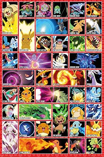 Pokemon - Moves - Anime Spiel Poster - Größe 61x91,5 cm
