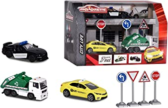 Majorette 212058594 Playset Diorama Die-Cast Vehicles 3 Playing Cars + Accessories Gift Set City Multi-Coloured
