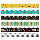 Juvale Classroom Bulletin Board Borders (6 Pack), 6 Assorted Designs