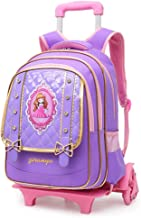 GUOGEGE Trolley Bag,The Lever Is Detachable 6 Wheels Can Climb The Stairs Waterproof Nylon Children's School Bag
