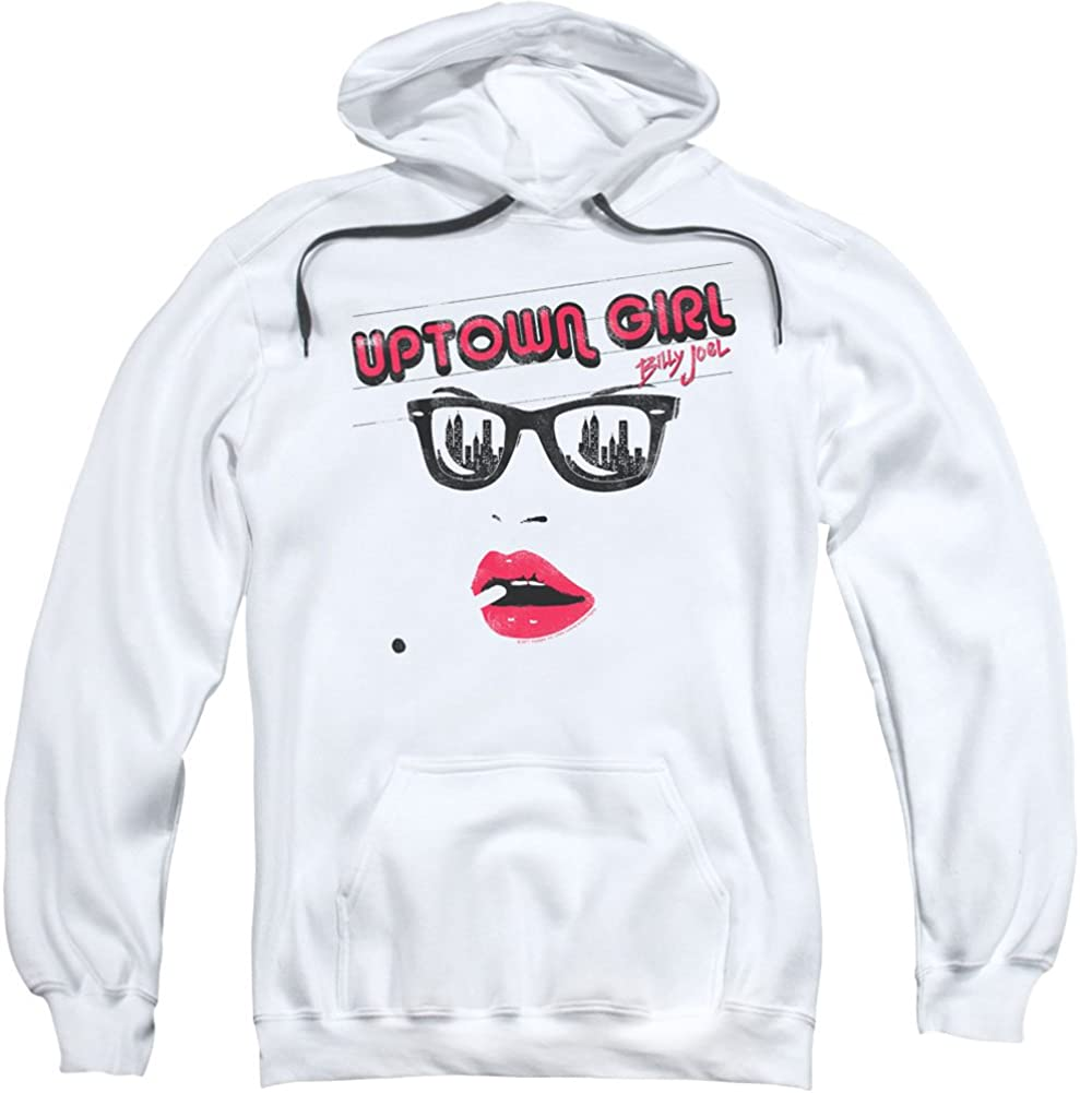 Billy Joel Uptown Girl-Adult Sale special price mart Hoodie-White Pull-Over