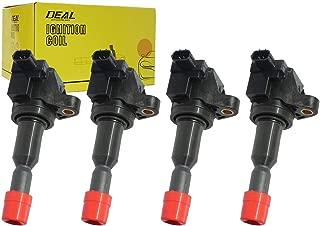 DEAL Set of 4 New Ignition Coil Fit 2007-2008 Honda Fit Base/DX/LX/Sport Hatchback 4-Door 1.5L L4 With OEM Number 30520-PWC-003 UF-581