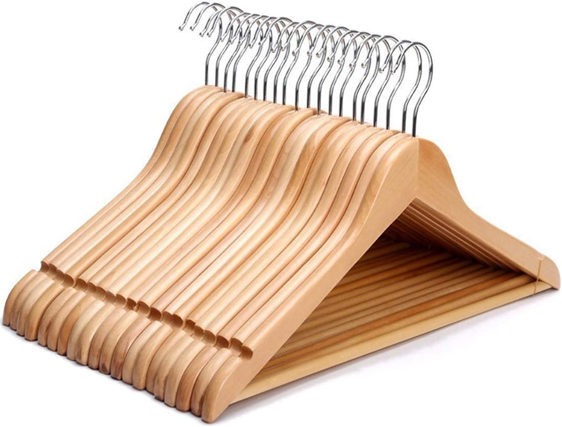JERY NEW Stylish Professional Quality Solid Wood - OFFer 20 Hangers P Suit