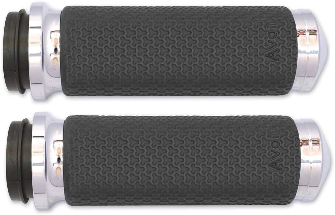"Avon Harley-Davidson 2008-18 Memory Foam Grips 1.375/"" Chrome MF-63-CH-FLY"