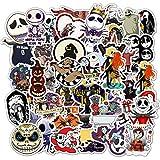 Halloween Sticker Decals 50 Pack Nightmare Before Christmas Tim Burton's Gifts Stickers