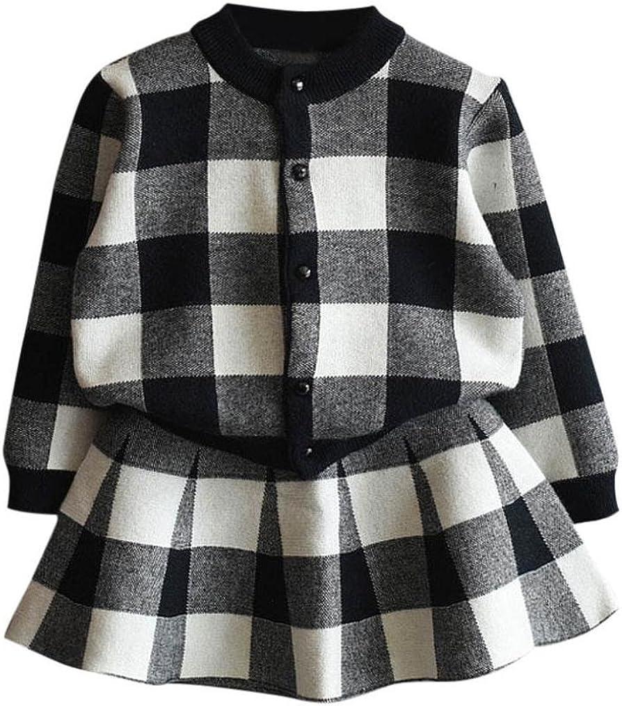 haoricu Girls Dress 2020 Ultra-Cheap Deals Autumn Toddler Plaid Kids Knitt Winter online shop