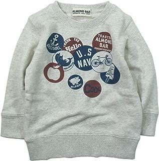 《秋冬春对应》 ALMOND BAR(杏仁棒)毛圈布 徽章印刷运动衫 NO.AH-83403 [対象] 48ヶ月 ~ Om 100