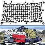 """バンジーカーゴネット、車の伸縮性のある貨物ネット、車の屋根の荷物ネットトランクボックスデブリネットポケット収納コンパートメント収納ネットバッグ 61 * 37"""""""