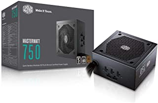 CoolerMaster MasterWatt 750 Watt Semifanless Modular Power Supply, 80 PLUS Bronze Power Supply for Computers