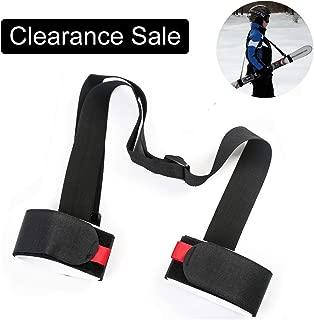 Shoulder Ski Carrier Straps Sling with Cushioned Holder - Adjustable - Ski Shoulder Lash Handle Straps