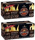 Pine Mountain Java-Log Firelog, 4-Hour Burn Time, Recycled Coffee Grounds, 4 Logs (2)