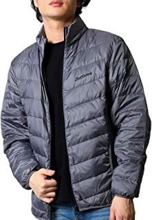 (リアルコンテンツ)REAL CONTENTS ダウンジャケット メンズ 大きいサイズ 刺繍 冬 アウター ライトダウン 防寒 軽量 rcjk53600