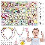 Sunshine smile Pulsera DIY Haciendo Kit,Niños Bricolaje Perlas para Collares Pulsera de joyería,Pulseras Joyas DIY para niños niña Regalo,Cuentas para la fabricación de Joyas para niños (1)