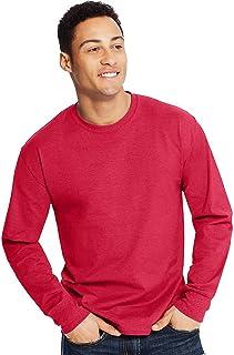 Hanes X-Temp Men's Crewneck Long-Sleeve T-Shirt