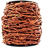 Xsotica-Barbed Wire Leather Cord 1 Yard (Distressed Light Brown)