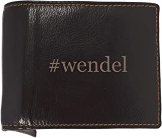 #wendel - Soft Hashtag Cowhide Genuine Engraved Bifold Leather Wallet