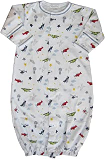 Baby Aviators Print Convertible Gown