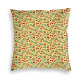 FULIYA Velvet Pillowcases,Doodle Woodland Animals of Wild Nature Composition Colorful Leaves Birds And Berries,Ultra Soft Breathable Luxury Pillowcase 20X20 Inches