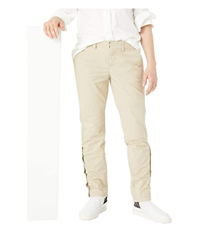 Tommy Hilfiger Adaptive Slim Stretch Chino Pants with Adjustable Waist and Velcro(r) and Magnetic Closure (Travel Khaki) Women