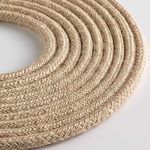 Klartext – Cable textil redondo luminoso para iluminación, 3 x 0,75 mm,...