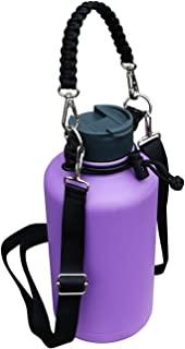 QICAIPO Paracord Handle Carrier Holder with Shoulder Strap Fits Hydro Flask 12, 16, 18, 20, 32, 40,  64 oz Wide Mouth Bottles