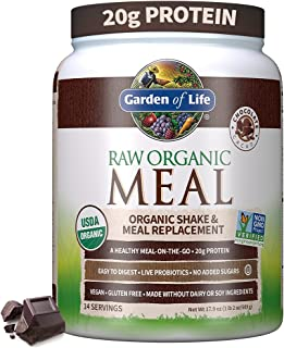 Garden of Life Meal Replacement Chocolate Powder, 14 Servings, Organic Raw Plant Based Protein Powder, Vegan, Gluten-Free...