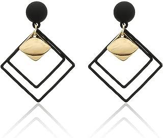 Bishilin Gold Plated Womens Stud Earring Transparent White Rhinestone Earring Irregular Earrings