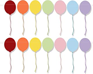 Multi-Colored Paper Balloon Shaped Party Garland Banner Decorations