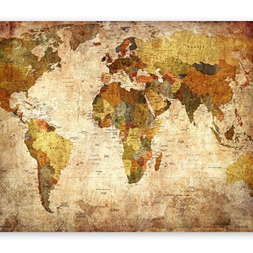 murando Fotomurales Vintage 400x280 cm XXL Papel Pintado Tejido no Tejido Decoración de Pared Decorativos Murales Moderna de Diseno Fotográfico Mapa del Mundo k-A-0315-a-a