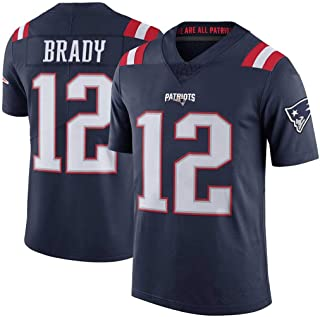 cjbaok Camiseta de fútbol para Hombre Patriots NFL # 12