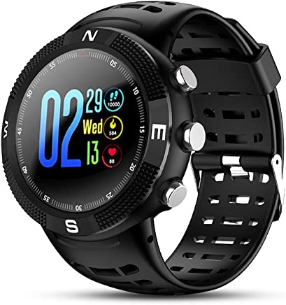 CicoYinG GPS Running Sport Watch,GPS Smart Watch Outdoor Waterproof Watch,Multi-Function Mode,for Tracking Running,Hiking,Heart Rate Monitor Fitness Workout Support Compatible with iOS and Android