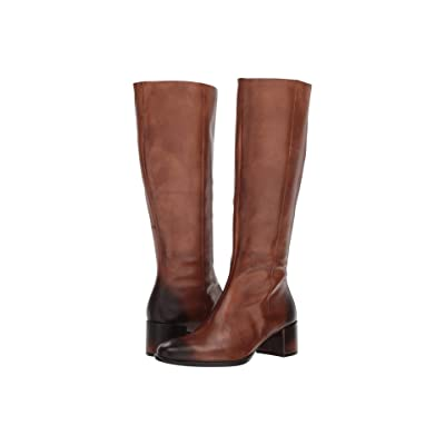 ECCO Shape 35 Block Tall Boot (Amber Full Grain Leather) Women