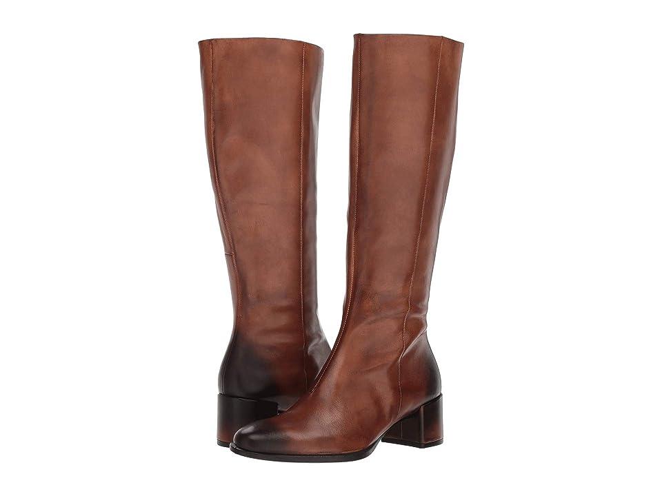 ECCO Shape 35 Block Tall Boot (Amber Full Grain Leather) Women