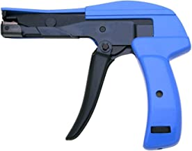 Heavy Duty HS-600A Cable Tie Gun, Clamshell. Die-Cast Steel Flush Cut Point DataCom Cable Tie Gun with Steel Handle, 7