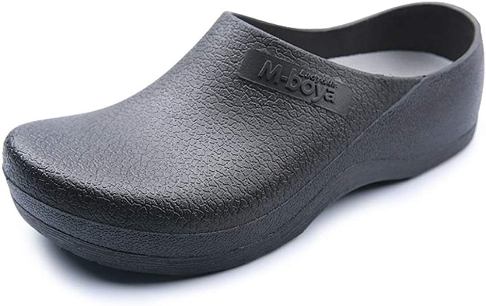 Yvonnelee Chef Nurse Shoes Non Slip for Men Black Shoe Oil Resistant Waterproof Safety Work for Crews Gardener Men Women Indoor and Outdoor Slippers Sneakers for Kitchen
