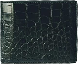Men's Genuine Crocodile Skin Wallet, Black Bifold Style
