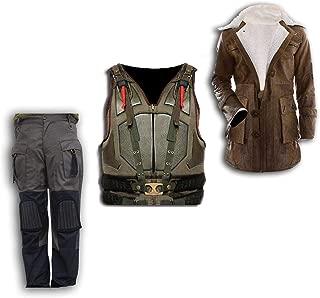 Mens Dark Military Bane Rises Knight Costume Vest/Coat