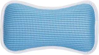 Decent Waterproof Bath Spa Pillow Comfortable Sucker Tub Cushion-Blue #01