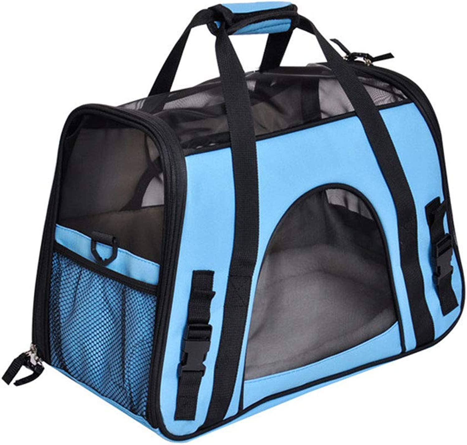 Pet Travel Carrier Pet Travel Carrier Sling Hands Free Pet Puppy Outdoor Bag Tote Reversible Ourtdoor Pet Bag (color   bluee)