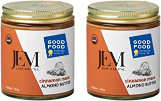 JEM Cinnamon Maca Almond Nut Butter, All Natural, Organic, Gluten-Free, Vegan, Paleo, Keto Snack, 6 oz Jar,...