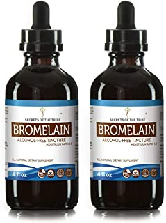 Bromelain Tincture Alcohol-Free Extract, Wildcrafted Bromelain, Pineapple (Ananas Comosus) (2x4 FL OZ)