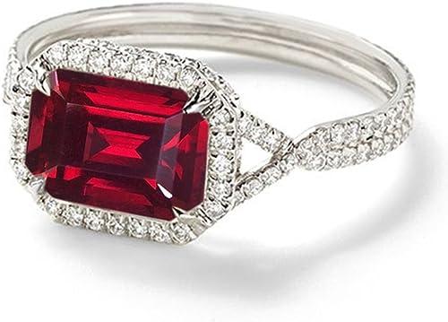 Vorra Fashion Smaragd mit rotem Grünat 925 erling-Silber mit Solitaire-Ring mit Akzenten