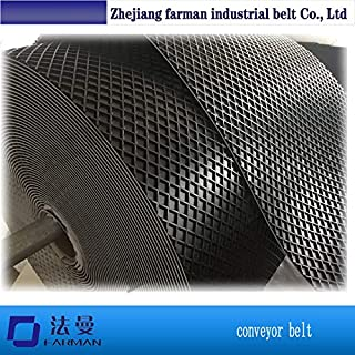 Fevas Diamond Pattern PVC Conveyor Belt Price for Sanding Machine