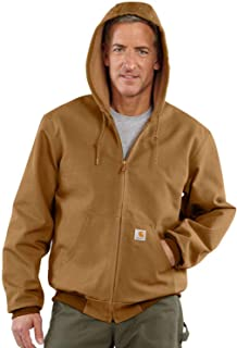 Men's Big & Tall Thermal-Lined Duck Active Hoodie Jacket J131