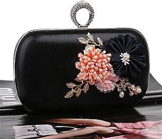Fine Bag/Women's Banquet Bag Fashion Clutch Bag Large Capacity Shoulder Messenger Bag Banquet Bag (Color : Black, Size : One Size)